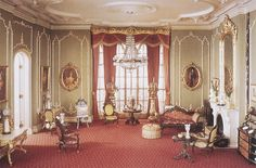 A miniature of a typical English Victorian drawing room or parlour (1840-1870) - eclectic, excessive and elaborate furnishing with most surfaces filled with ornaments to display the residents' wealth and taste. Period: Victorian. Repository: Art Institute of Chicago  References: http://library.artstor.org.ezproxy.lib.rmit.edu.au/library/iv2.html?parent=true. Viewed 2 Mar 2015