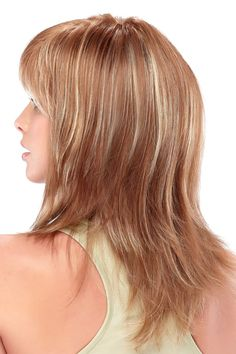 Angelique - Capless Wig - The straight, long layered tresses and soft bangs of this wig will impress everyone!  WigStudio1.com