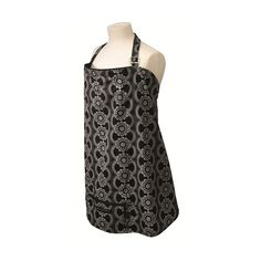 This clever, 100% organic nursing cover is designed to fold in on itself, and even sports a zippered front pocket perfect for stashing any essentials you'll need when out and about. But that's not all – this super convenient nursing cover is also pretty stylish, with its English lace design, black piping detail, and shapeable neckline that allows you to peek at your baby whenever you'd like.