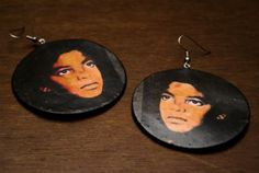 Michael Jackson Pop lassic Icon Earrings by Curlitude on Etsy, $20.00