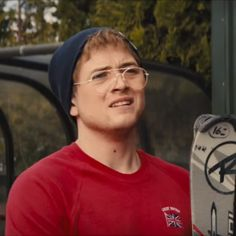 "Taron Egerton as Eddie ""The Eagle"" Edwards in Eddie The Eagle trailer"