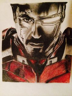 Print of Original Iron Man Drawing by ThePencilProject on Etsy #ironman #tonystark #drawing