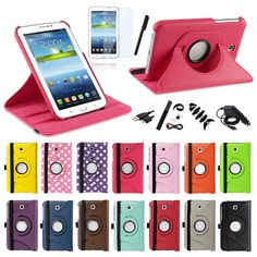 For Samsung Galaxy Tab 3 7.0 7 inch Tablet SM-T210R Rotating Leather Case Cover