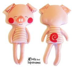 Pig Sewing Pattern - Dolls And Daydreams