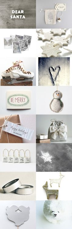 Dear Santa by Andrea Hurley on Etsy-- Dear Santa, Hurley, All Things Christmas, Place Cards, Merry, Xmas, Place Card Holders, Board, Yule