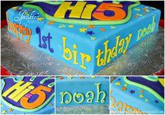 Hi 5 birthday cake