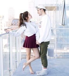 Ils sont cute non ? Emma Verde, Youtubers, Bff, Ballet Skirt, Couples, Cute, People, Images, Photography