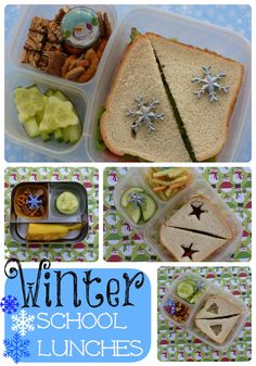 Winter school lunches so cute!  #lunch #mealsforkids #lunchhelp