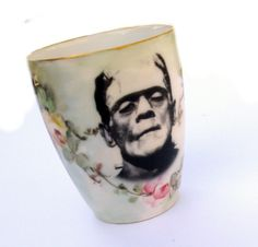 Antiqued Frankenstein mug #kitchen #products #tableware