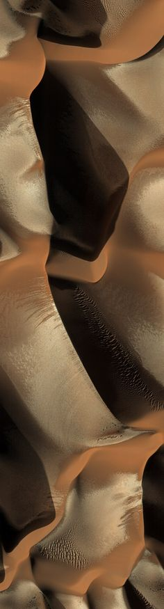 Abstract paths in the sand. Mars