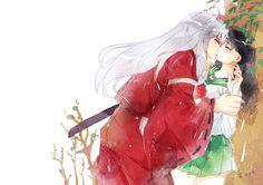 Inuyasha and Kagome& romantic kiss moment in a tree , [post_tags Inuyasha Fan Art, Inuyasha And Sesshomaru, Kagome And Inuyasha, Kagome Higurashi, Manga Art, Manga Anime, Anime Art, Me Me Me Anime, Anime Love