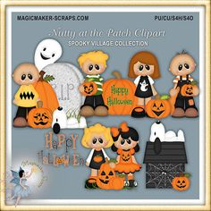 Halloween Clipart Autumn Nutty Crew at the by MagicmakerScraps