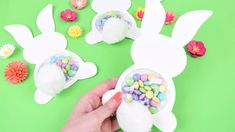 Make your own DIY Candy Filled Easter Bunny Craft. Easter Bunny Template, Bunny Templates, Printable Templates, Candy Crafts, Paper Crafts, Cork Crafts, Wooden Crafts, Easter Candy, Easter Eggs