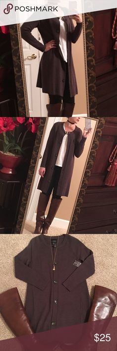 NWT Cynthia Rowley chocolate wool duster Brand new chocolate brown long wool cardigan by Cynthia Rowley. Never been worn. Looks amazing on with flat riding boots or booties. I would keep it but it's slightly too big in the arms for me. Super cozy for winter! ☃️ Cynthia Rowley Sweaters Cardigans