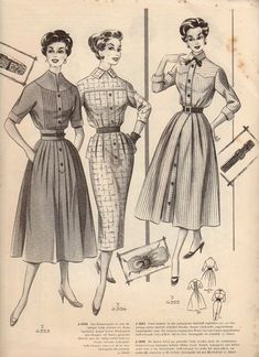 "Домашняя пошивочная: Журнал моды ""Modenschau"". 1950-е"