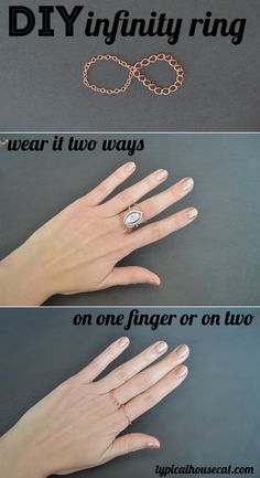 DIY Infinity Ring. Easy to make and can be worn multiple ways.