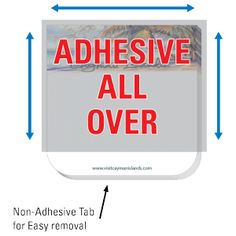 Bebco | All-Over Adhesive Notes with Tab