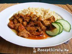 Tarhonyás hús Grains, Rice, Beef, Food, Red Peppers, Meat, Essen, Meals, Seeds
