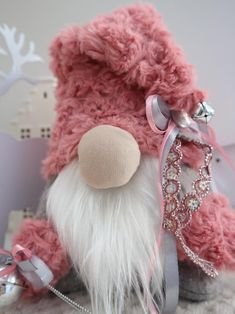 Diy Craft Projects, Fun Crafts, Craft Ideas, Sock Bunny, Gnome Hat, Gnome House, Light Pink Color, Spring Crafts, Toys