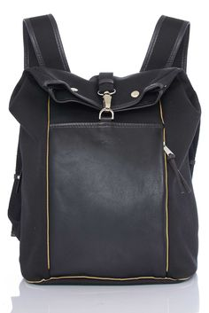 Lightning Rucksack made in Britain from waterproof canvas, British veg-tan leather and reflective piping. Thoughtfully designed for your cycle commute.