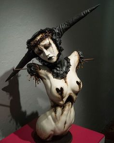"""The Virgin Queen"" by Emil Melmoth #dark #horror #clay #sculpture #art"