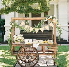 Wedding Rentals, Wedding Events, Lemonade Wedding, Lemonade Bar, Wooden Cart, Vintage Buffet, Flower Cart, Farm Stand, Flower Stands