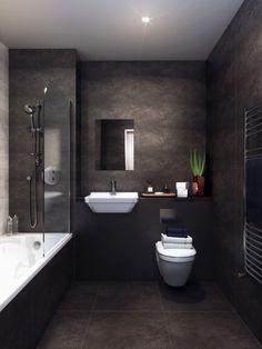 Bathroom flooring: know the main materials to coat - Home Fashion Trend Dark Bathrooms, Bathroom Red, Bathroom Colors, Amazing Bathrooms, Bathroom Ideas, Master Bathroom, Master Baths, Budget Bathroom, Washroom