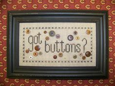 Got Buttons cross stitch