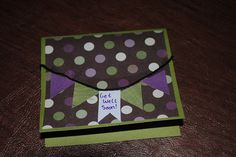 Get Well Soon card with a flag banner