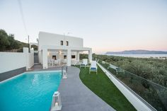 Holiday villa rental in Chania. Luxury five bedroom villa in NW Crete with sea view. 5 bedrooms' villa, with private pool, in the region of Ki. Luxury Holidays, Private Pool, Crete, Villas, Sea, Bedroom, Outdoor Decor, Home, Mansions