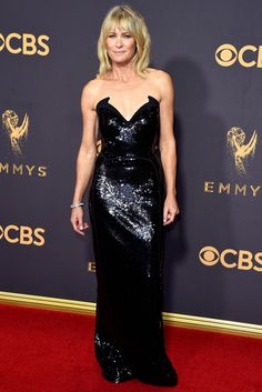 See All the Stars on the 2017 Emmys Red Carpet - Robin Wright from InStyle.com