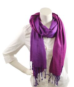 Picture of Violet Diamond Weave Scarf.  New Spring 2014 Scarves have arrived.
