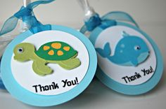 Under the Sea Birthday Party Favor Tags set of 12