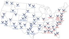 Locations of US Air Force Bases - Good to know :) Us Air Force, Air Force Love, Air Force Bases, Military Mom, Military Girlfriend, Military Crafts, Military Deployment, Us Navy, Air Force Girlfriend