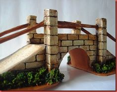 casas para pesebres - Buscar con Google Medieval Houses, Christmas Nativity Scene, Holy Night, Ceramic Clay, Miniture Things, Fairy Houses, Christmas 2016, Clay Crafts, Garden Bridge