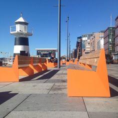 OSLO: Orange is the New Black #LarsTornøe #Bloc bench #VestreFurniture
