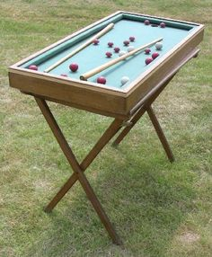Small Pool Table, Garage Shed, Lawn Games, Traditional Games, Calais, Tabletop Games, Location, Man Cave, Woodworking Projects