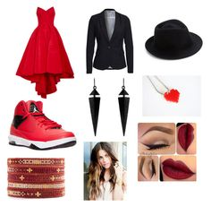 """""""#red queen"""" by allybmckinley on Polyvore featuring Zac Posen, NIKE, Vero Moda, Eugenia Kim, Oasis and Chan Luu"""
