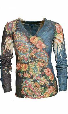 Db Sport Clothing Bright V Neck Ribbed Long Sleeve Top