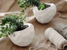 Tutoriel DIY: Fabriquer une suspension florale avec motif à facettes via DaWanda.com