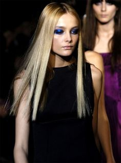 Blue eye-shadow is a hot trend for Spring 2013!  #makeup #eyes #blue