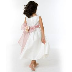 Flower girl dress comes in either white or ivory poly silk. This dress is sleeveless and you pick your color of sash Ivory Flower Girl Dresses, Ivory Dresses, Toddler Dress, Baby Dress, Kid Essentials, Flower Girl Gifts, First Daughter, Handfasting, Kid Shoes