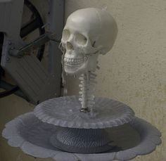 How to make a skull fountain