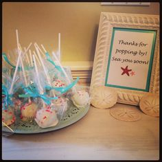 Wedding shower favors - Cake pops via Cupcake Royale.