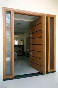 40 Awesome Minimalist Home Door Design Ideas That Look Beautiful Modern Entrance Door, Main Entrance Door Design, Wooden Main Door Design, Modern Exterior Doors, Modern Front Door, Entrance Decor, House Entrance, Home Door Design, Door Design Interior