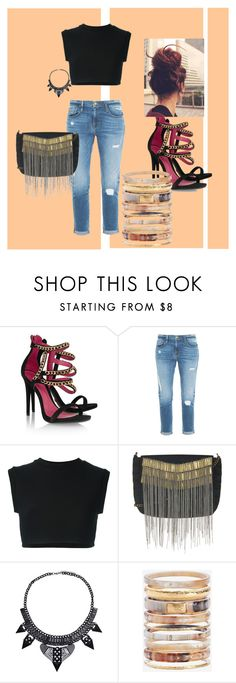 """I love it .. perfect outfit"" by dzenita-219 on Polyvore featuring Schutz, Frame Denim, adidas Originals, Topshop and Ashley Pittman"