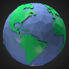 3D Model Low Poly Earth | Other Space 3D Models | DanM3d - 3D Squirrel