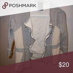 Anthropologie Dolan zip up Anthropologie Dolan 3/4 sleeves zip-up with mesh inserts Anthropologie Tops Sweatshirts & Hoodies
