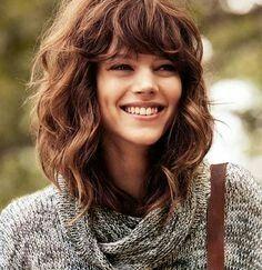 Curly + bangs