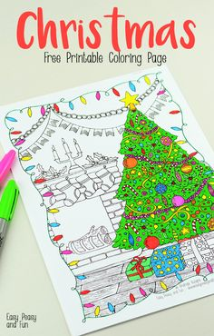 Intricate Christmas Coloring Page for Adults and Kids